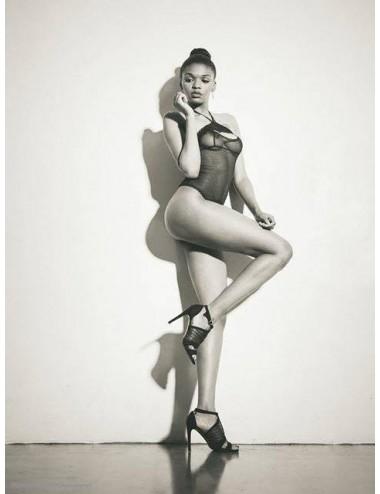 Lingerie - Bodys - Body en dentelle noire transparente et ouverte Opéra - French Kiss