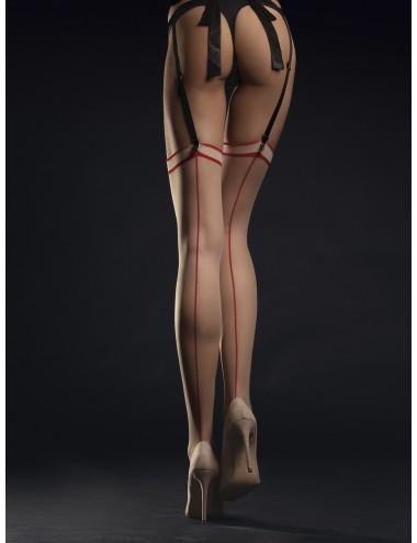 Lingerie - Bas - Madame Bas 20 DEN - Nude Rouge - Fiore