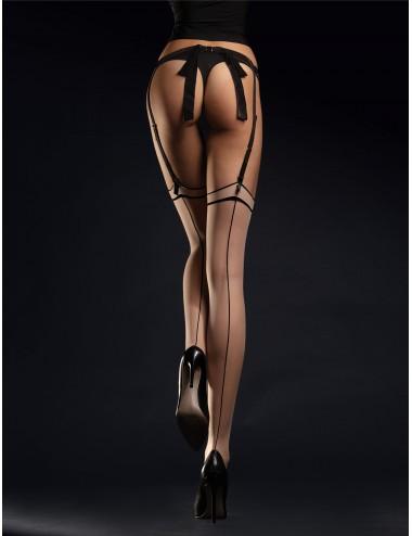 Lingerie - Bas - Madame Bas 20 DEN - Nude Noir - Fiore