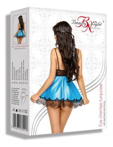 Lingerie - Nuisettes - Eve Babydoll Masque - Turquoise - Beauty Night