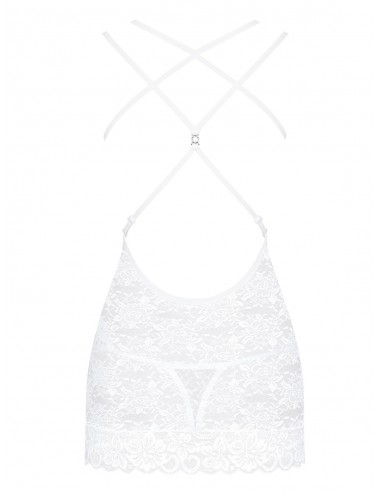 Lingerie - Nuisettes - 860-CHE-2 Nuisette - Blanc - Obsessive