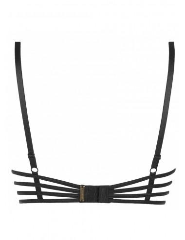 Lingerie - Soutien-Gorge - Soutien-gorge noire à sein nus et style fétichisme Maple Lolipop V-7811 - Axami