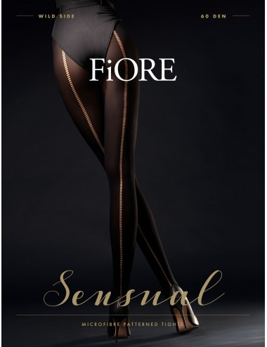 Lingerie - Collants - Wild Side Collants 60 DEN - Noir - Fiore