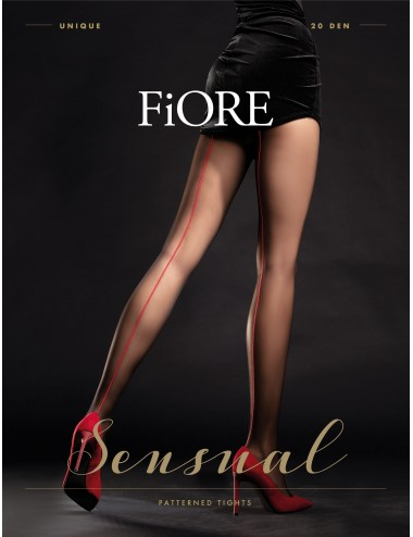 Lingerie - Collants - Unique Collants 20 DEN - Noir - Fiore