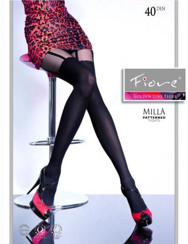 Lingerie - Collants - Milla Collants 40 DEN - Noir - Fiore