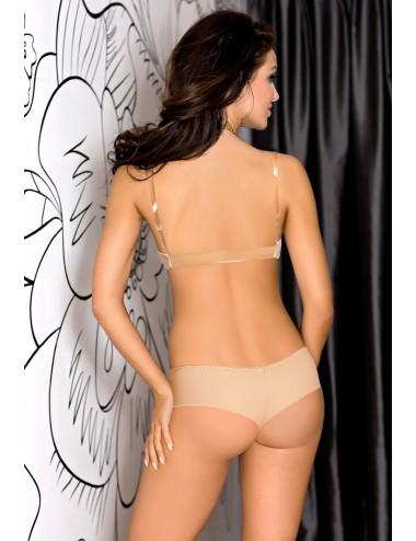Lingerie - Boxers, strings, culottes - Tanga sexy beige élégant Basic Beige V-5798 - Axami