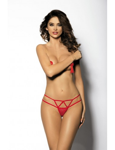 Lingerie - Boxers, strings, culottes - Gloria String - Rouge - Anaïs