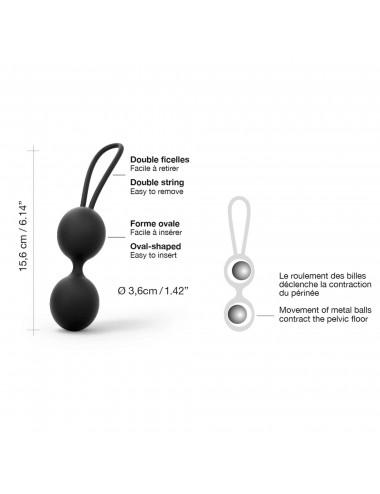 Boules de Geisha Dual Balls - Noir