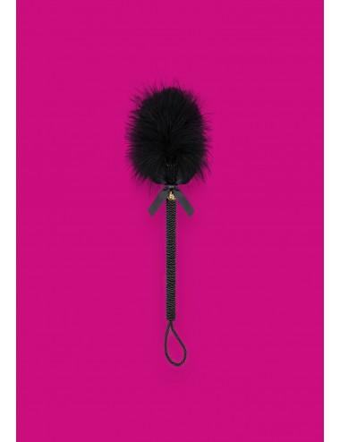 Sextoys - Masques, liens et menottes - Plumeau 43 CM noire avec plumes douces et noeud de satin A720 - Obsessive