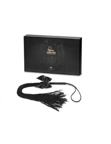 Sextoys - Masques, liens et menottes - Fouet noire à frange pour jeux érotiques Lilly - BI2576 - Bijoux Indiscrets
