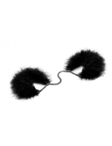 Sextoys - Masques, liens et menottes - Menottes Za Za Zu - Noir - Bijoux Indiscrets