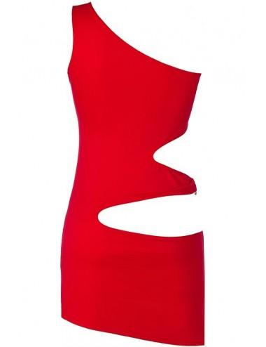 Lingerie - Robes et jupes sexy - Robe rouge en microfibre et de découpes séduisantes V-9249 - Axami