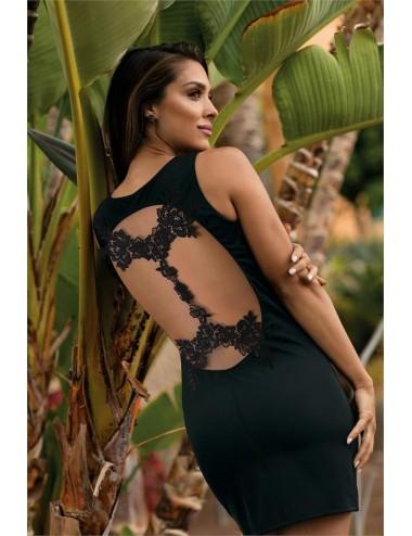 Lingerie - Robes et jupes sexy - V-9209 Robe - Noir - Axami