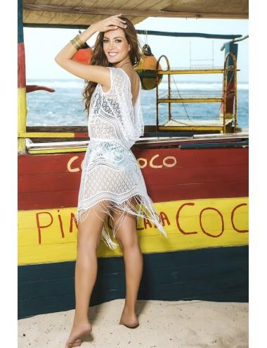 Lingerie - Maillots de bain et tenues de plage - Robe de plage Style 7794 - Blanc - Mapalé