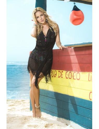 Lingerie - Maillots de bain et tenues de plage - Robe de plage Style 7794 - Noir - Mapalé