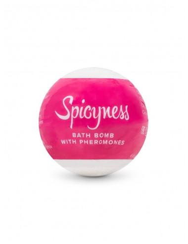 Bombe de bain aux phéromones Spicy - 100 g - Plaisirs Intimes - Obsessive