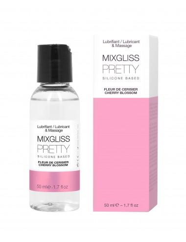 Lubrifiant silicone 2 en 1 Pretty Fleur de cerisier 50 ml Mixgliss - Lubrifiants - Mixgliss