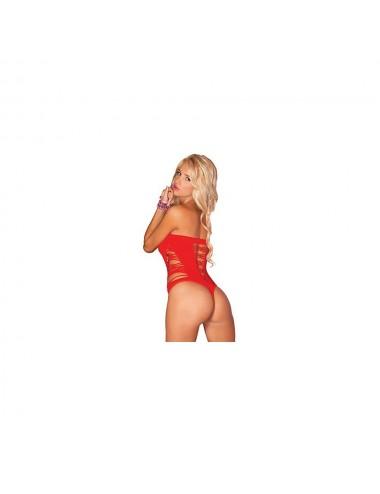 Lingerie - Bodys - Bodysuit sans couture Juice Box - PLK25036-RED - Pink Lipstick