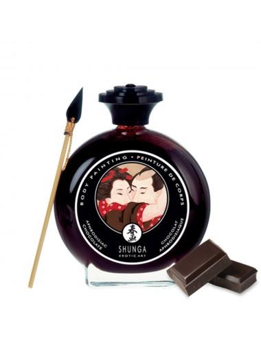 Peinture de corps comestible chocolat 100ml - CC817000 - Peintures de Corps - Shunga