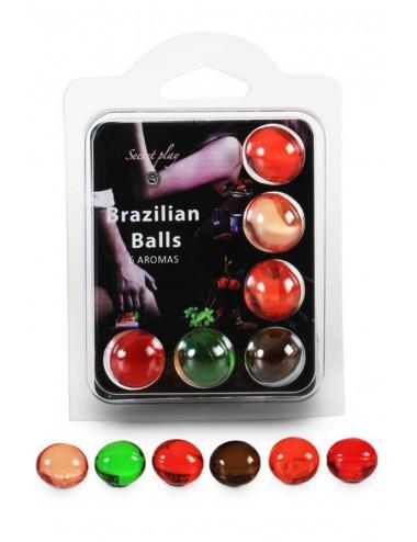 Boules de massage Brésiliennes multi-saveurs - BZ3866 - Huiles de massage - Secret Play