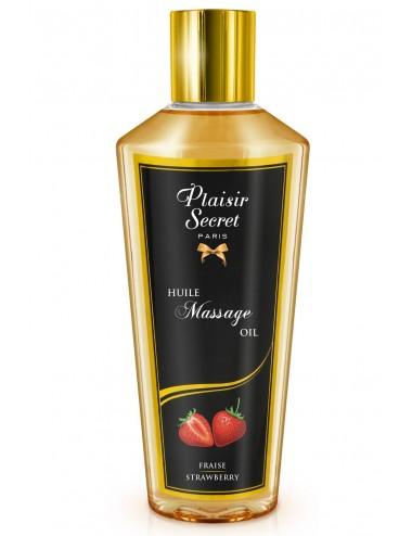 Huile de massage sèche fraise 250ml - CC826075 - Huiles de massage - Plaisirs Secrets