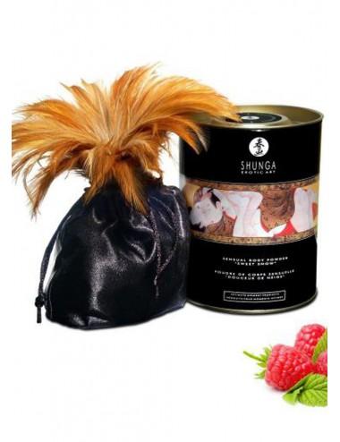 Poudre de massage corporelle comestible émotion de framboises 228grs - CC3001 - Huiles de massage - Shunga