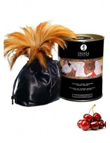 Poudre de massage corporelle comestible cerises ardentes 228grs - CC3000 - Huiles de massage - Shunga