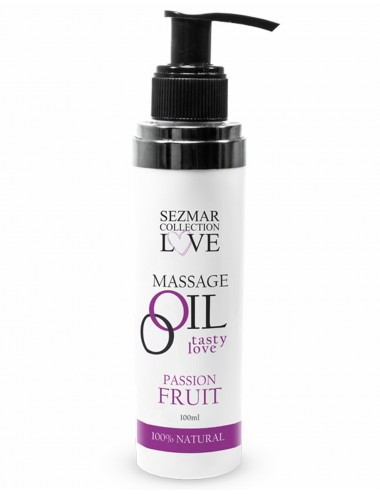 Huile de massage comestible Fruit de la passion 100ml - SEZ052A - Huiles de massage - SEZMAR