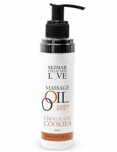 Huile de massage comestible cookie chocolat 100ml - SEZ002A - Huiles de massage - SEZMAR