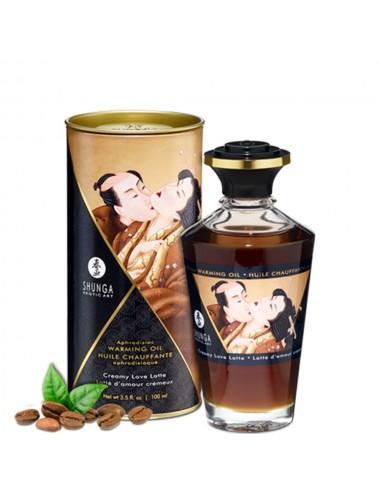 Huile chauffante latté d'amour comestible 100ml - CC812010 - Huiles de massage - Shunga