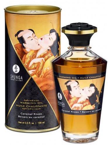 Huile chauffante caramel comestible 100ml - CC812011 - Huiles de massage - Shunga