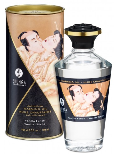 Huile chauffante vanille comestible 100ml - CC812007 - Huiles de massage - Shunga