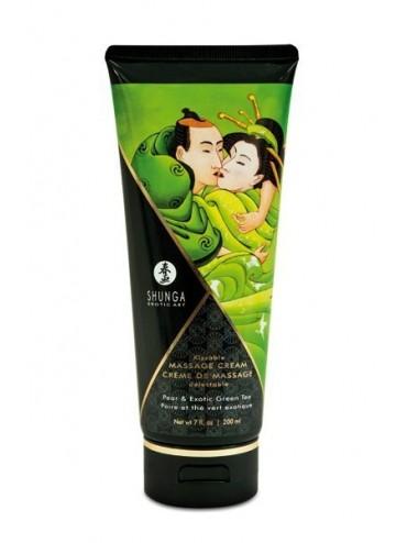 Crème hydrante de massage thé vert poire 200ml - CC814111 - Huiles de massage - Shunga