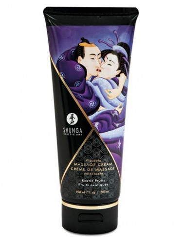 Crème hydrante de massage exotique 200ml - CC814102 - Huiles de massage - Shunga
