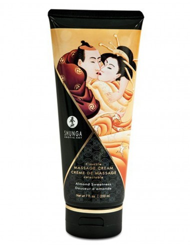 Crème hydrante de massage amande 200ml - CC814112 - Huiles de massage - Shunga