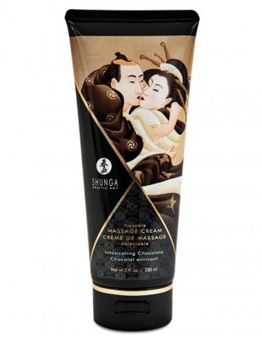 Crème hydrante de massage chocolat 200ml - CC814109 - Huiles de massage - Shunga