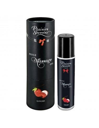 Huile de massage comestible litchi 59ml - CC826000 - Huiles de massage - Plaisirs Secrets