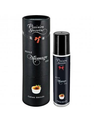 Huile de massage comestible crème brûlée 59ml - CC826005 - Huiles de massage - Plaisirs Secrets