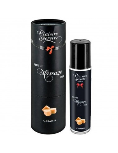 Huile de massage comestible caramel 59ml - CC826002 - Huiles de massage - Plaisirs Secrets