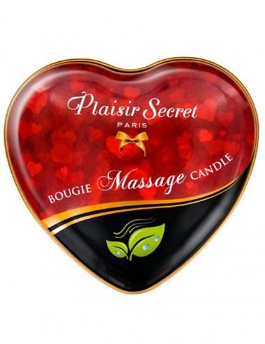 Mini bougie de massage naturelle boîte coeur 35ml - CC826060 - Bougies de massage - Plaisirs Secrets