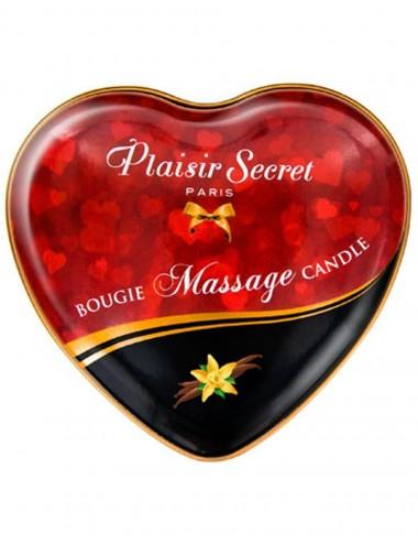 Mini bougie de massage à la vanille boîte coeur 35ml - CC826062 - Bougies de massage - Plaisirs Secrets