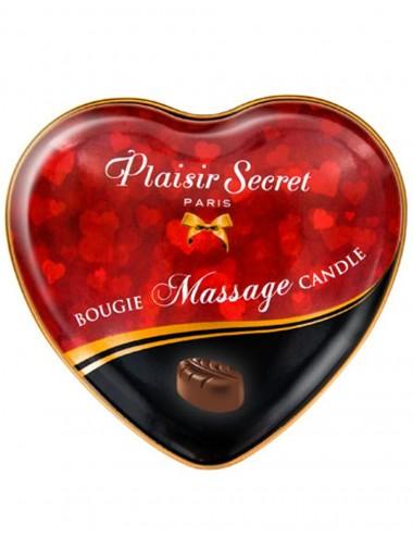 Mini bougie de massage au chocolat boîte coeur 35ml - CC826061 - Bougies de massage - Plaisirs Secrets