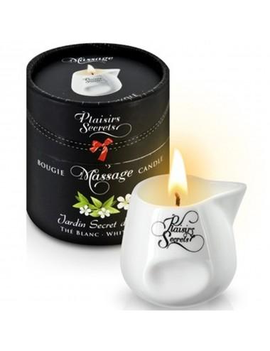 Bougie de massage thé blanc 80ml - CC826039 - Bougies de massage - Plaisirs Secrets