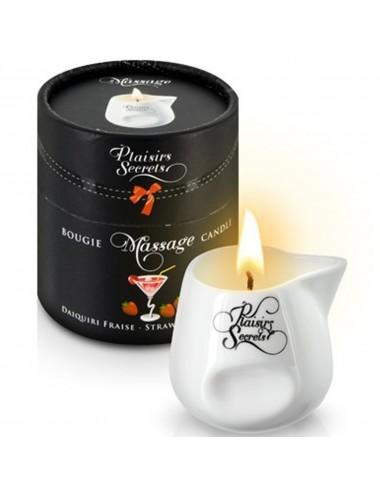 Bougie de massage daïkiri fraise 80ml - CC826036 - Bougies de massage - Plaisirs Secrets