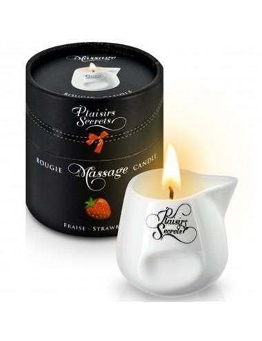 Bougie de massage fraise 80ml - CC826016