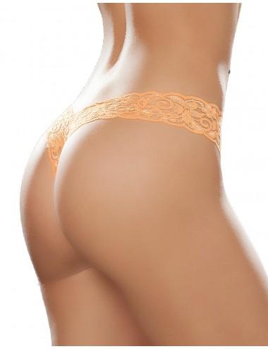 Lingerie - Boxers, strings, culottes - String brésilien orange en dentelle - MAL93ORA - Mapalé
