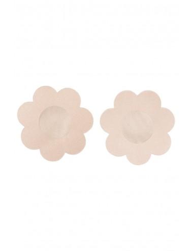 Lingerie - Soutien-Gorge - Cache tétons adhésifs couleur chair forme florale - FunSex