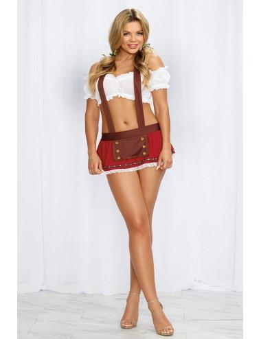 Lingerie - Costumes sexy - Déguisement sexy en maille extensible avec des épaules découvertes de femme Bavaroise - Dreamgirl