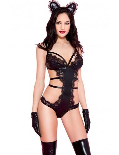 Lingerie - Costumes sexy - Petite serre-tête oreilles de chatte en dentelle - ML75001EAR - Music Legs