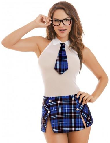 Costume étudiante, lunettes inclus  - DG10602COS